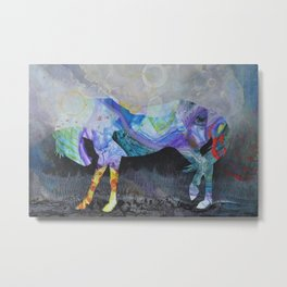 Wild Horse: Look Within Metal Print