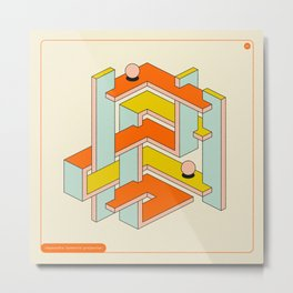 IMPOSSIBLE GEOMETRICS 37 Metal Print