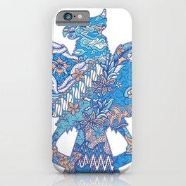 batik culture on garuda silhouette illustration iPhone Case