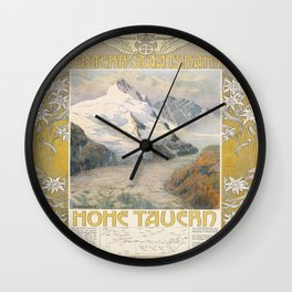 Vintage poster - Hohe Tauern Wall Clock