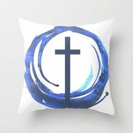 Circle Of Life - Cross Throw Pillow