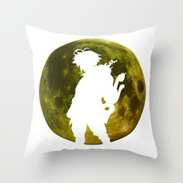 Anime Moon Inspired Design Throw Pillow