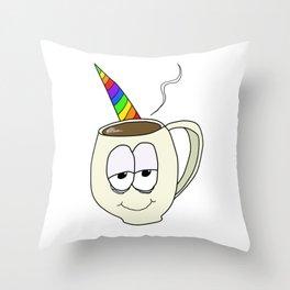 CoffeeCorn Throw Pillow