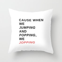 jumping & popping Throw Pillow