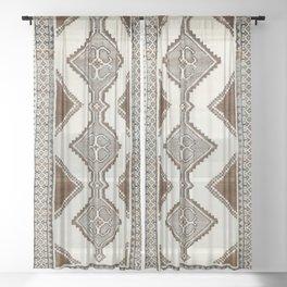 Luri Gabbeh  Antique Fars South West Persian Rug Print Sheer Curtain