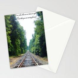 TRAIN Tracks Stationery Cards