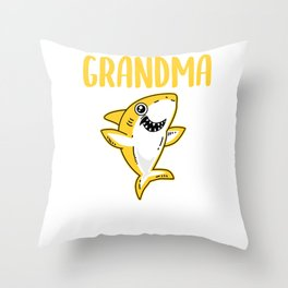 Grandma Shark - Shark Grandma Throw Pillow