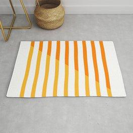 Beach Stripes Orange Yellow Rug
