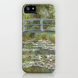 Bridge over a Pond of Water Lilies by Claude Monet iPhone Case