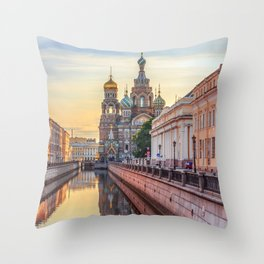 Church of the Savior on Blood, Saint Petersburg, Russia Throw Pillow