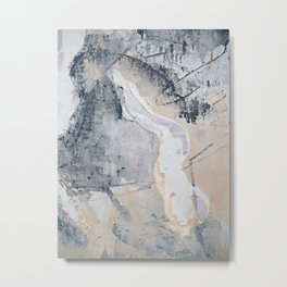 As Restless as the Sea: a minimal abstract painting by Alyssa Hamilton Art Metal Print