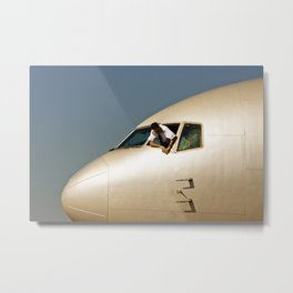 HEY! Can You Check the Oil Too? Metal Print