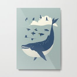 Fly in the sea Metal Print