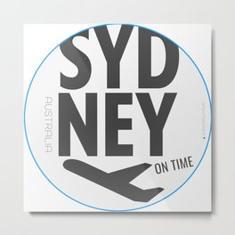 Airport tag SYD Metal Print