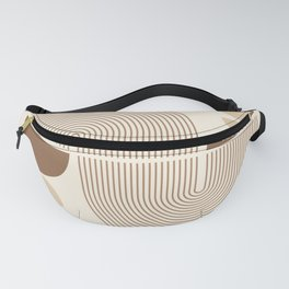 Geometric Lines in Neutral Colors 4 Fanny Pack