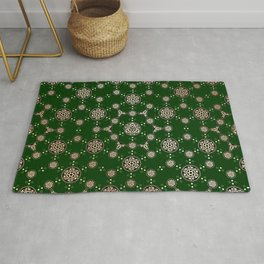 archaic pattern. crop circle. sacred geometry Rug