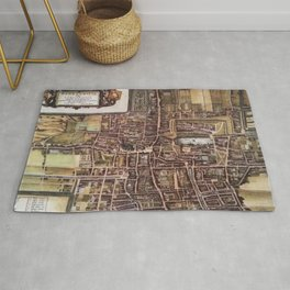 Replica city map of The Hague 1649 Rug