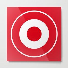 Red and White Bullseye Metal Print