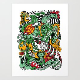 Snake - 12 Animal Signs Art Print