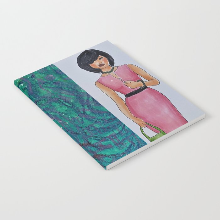 The Woman In Pink Notebook