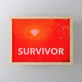 Survivor Framed Mini Art Print