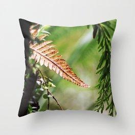 New Zealand Fern Throw Pillow