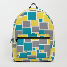 Funky Mosaic Pattern V5 Pantone 2021 Colors of the Year and Accent Hues Backpack