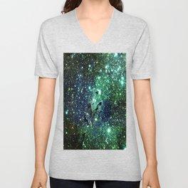 Green Eagle Nebula / Pillars of Creation Unisex V-Neck