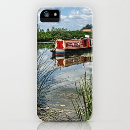 Moored on the Avon At Tewkesbury iPhone Case