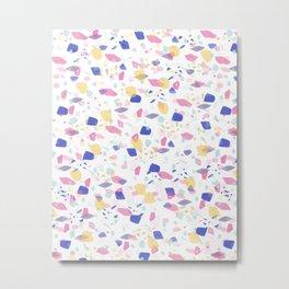 Terrazzo in Pastel Dreams | Pink | Pattern  Metal Print