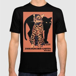 Retro vintage Munich Zoo big cats T-shirt