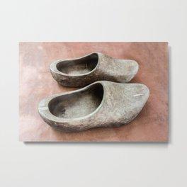 Vintage dutch wooden shoes  Metal Print