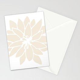 Modern Cream Floral Design II Stationery Cards
