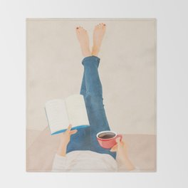 Morning Read Throw Blanket