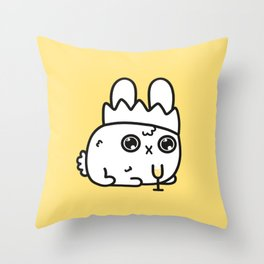 New Year bunny Throw Pillow