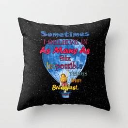 Alice in wonderland Impossible Quote Throw Pillow