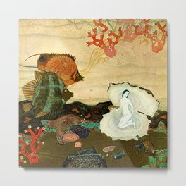 """The Birth of the Pearl"" by Edmund Dulac Metal Print"