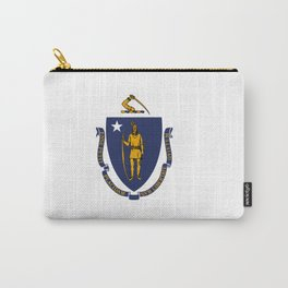 Massachusetts Flag Carry-All Pouch