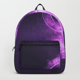 Planet Venus Symbol. Venus sign. Abstract night sky background. Backpack