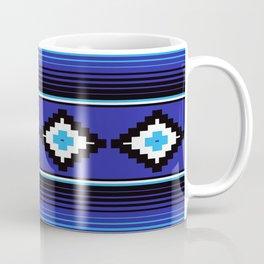Modern Mexican Serape in Blue Coffee Mug