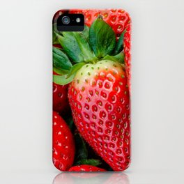 Big red juicy strawberry iPhone Case