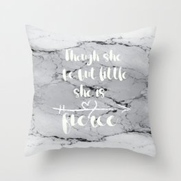 Though She Be Little Throw Pillow