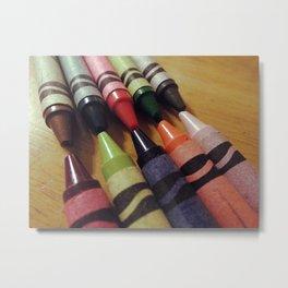 Crayon Closeup Metal Print