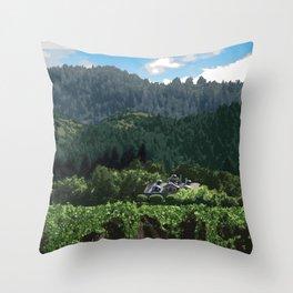 Napa Valley - Far Niente Winery, Oakville District Throw Pillow