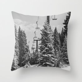Chairlift to the Top Throw Pillow