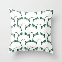 Exotic cat silhuette Throw Pillow