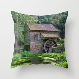 A Beautiful Old Mill Throw Pillow