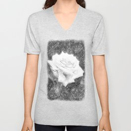 Pink Roses in Anzures 3 Charcoal Unisex V-Neck