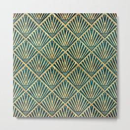 Stylish geometric diamond palm art deco inspired Metal Print