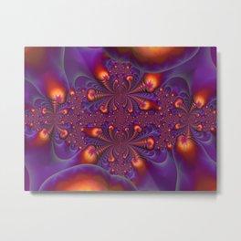 FRACTAL ART FIREFLIES Metal Print